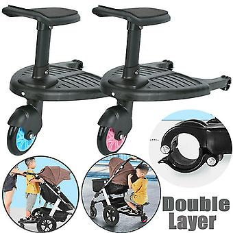Children Stroller Wheel Pedal Kids Auxiliary Trailer Scooter Kids Standing Plate with Detachable Seat