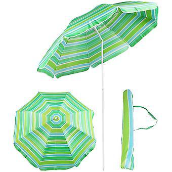 Parasol 180 cm - parasol med taske - grøn