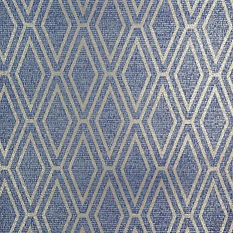 HOLDEN GLINSTERT DIAMOND BLUE WALLPAPER