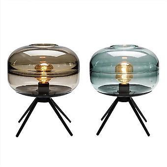 Moderni amerikkalainen lasipöytälamppu luova makuuhuone