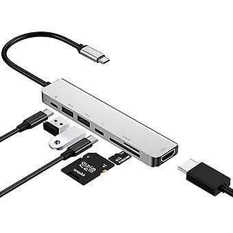 Type-c a HDMI 4k hub multifunkciós hub 3.1 a HDMI 7 1type chub dokkoló állomás