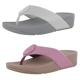 Fitflop Womens Demelza Logo Shimmer Toe Thong Sandals