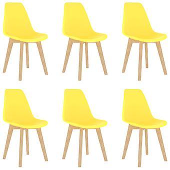 Essstühle 6 St Plastic Yellow