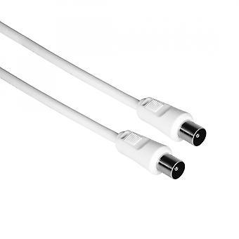 Câble d'antenne Hama 75 dB 4m (Blanc)
