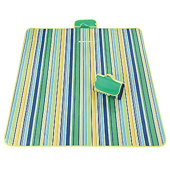 Light green and blue 145x180cm outdoor moisture-proof waterproof oxford cloth picnic blanket mat striped park blanket necessary for picnic homi2817