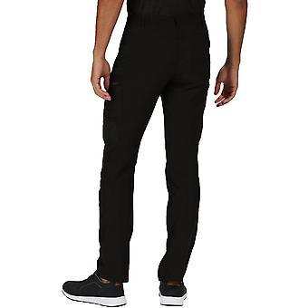 Regatta Herre Highton Multi Pocket vandafvisende full walking bukser - sort