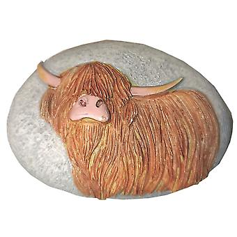 Highland Cow Pebble Ornament by Langs