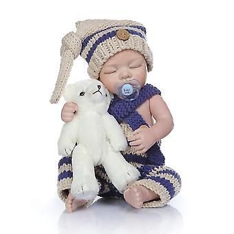 48Cm bebe pop herboren premie baby zeer zacht full body siliconen baby meisje anatomisch correct