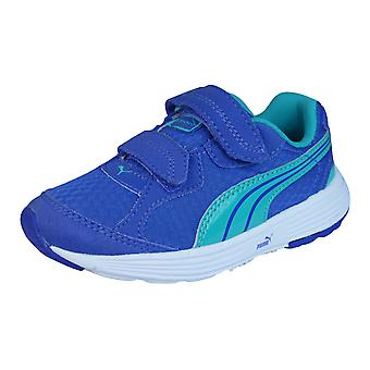 Descendiente de Puma V Kids Zapatillas Running zapatos - azul y verde