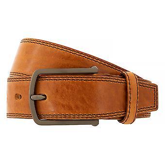 Bugatti belts men's belts leather belt cowhide Cognac 6502