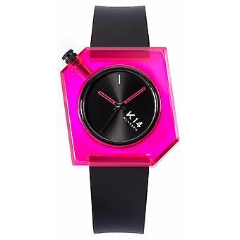 Klasse14 K14 Pink Doll 40mm Black Silicone Strap WKF19PK001M Watch