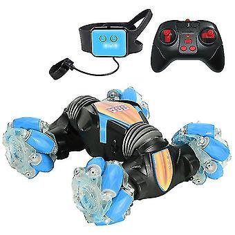 Gesture Sensing Remote Control Stunt Car Drift Car With Dog Walking Mode(Blue)