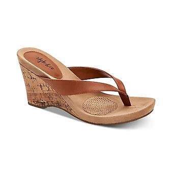 Stijl & Co. Womens Chicklet Open teen ongedwongen Platform sandalen