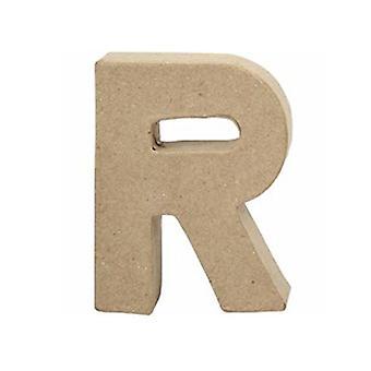 VIIMEISET MUUTAMAT - Pieni 100mm paperi mache kirje R | Papier Mache -muodot