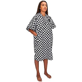 Slowtide Dekker Poncho S/M Handduk med huva i checker