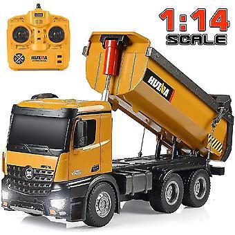1/14 مقياس RC حفارة شاحنة RC وظيفية كاملة مع أضواء مجرفة معدنية الأصوات| RC شاحنات (كاكي)