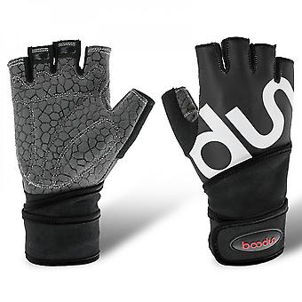 Fitness Gloves Sports Half Finger Gloves Lengthened Wrist Guard Sports Bicycle Riding Weight Lifting Gloves