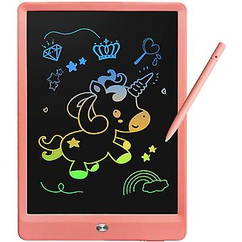Children's Learning Toy 3-7 Years Old Girl Color Lcd Writing Board Graffiti Board 10 Inch Erasable Drawing Board Writing Board (pink)