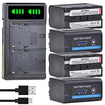 Power Indicator Battery Batterie +ultra Fast Lcd Dual Charger