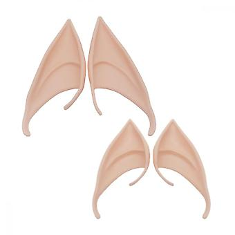 Genie Ears, 2 Pairs Cosplay Elf Ears Soft Pointed Ears, Party Dress Up Accessories