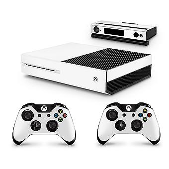 GNG White Console Skin Decal Sticker + 2 Controller Skins compatible with Xbox One & Kinect