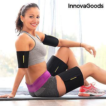 InnovaGoods ساونا تأثير الذراع والفخذ يلتف (حزمة من 4)