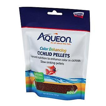 Aqueon Color Enhancing Cichlid Food Pelety - 4.5 oz