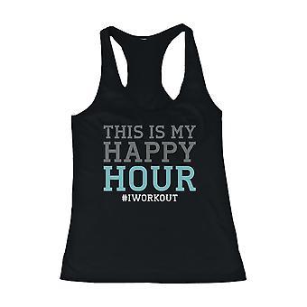 Tapa del tanque de diseño divertido - este es mi Happy Hour - ropa de gimnasia, entrenamiento de tanques