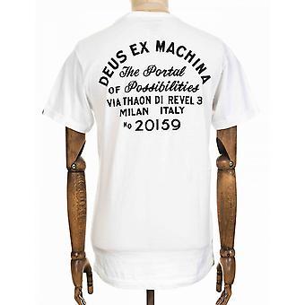 Deus Ex Machina Milan Address Pocket Tee - White