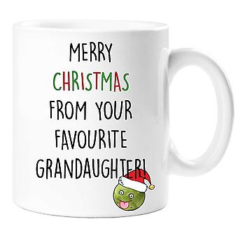 Merry Christmas From Your Favourite Grandaughter Mug