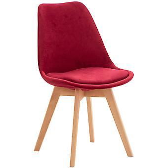 Chaise de salle à manger - Chaises de salle à manger - Chaise de cuisine - Chaise de salle à manger - Moderne - Rouge - Bois - 49 cm x 50 cm x 83 cm