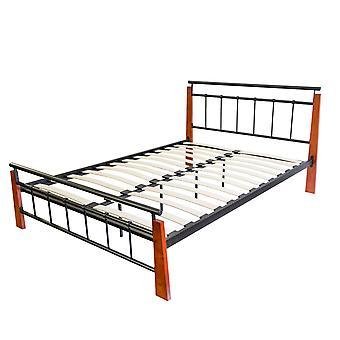 Cadre de lit - Plate-forme - Lits - Bois marron moderne 206 cm x 195 cm x 51 cm