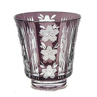 النبيذ الزجاج سحر 1pcs اليابانية نمط النبيذ النظارات اليد قطع الزجاج الويسكي الطراز القديم النار الزجاج ساكي كأس الأرجواني
