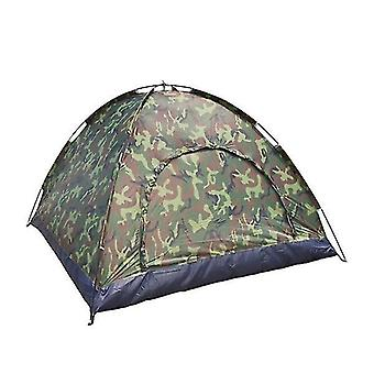 Ball pits outdoor portable single layer camping tent camouflage 3-4 person waterproof lightweight fishing