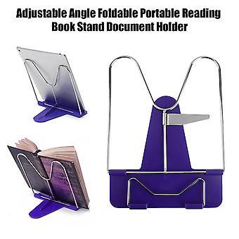 調節可能な角度折り畳み式ポータブル読書帳スタンド文書ホルダー