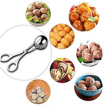 Homemiyn 2 Stuks Non-stick Vlees Ballers, Roestvrij staal Vlees Baller Tangen, gehaktbal Maker Ice Tongs Voor Keuken