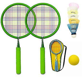 Jeux de plein air pour enfants Badminton Set 2 raquettes de tennis avec balles