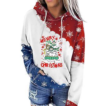 Hoodies Women,womens Casual Zipper Christmas Hooded Sweatshirts