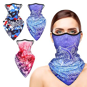 Face Bandanas For Women, Stylish Neck Gaiters With Ear Loops Outdoor, 3pcs