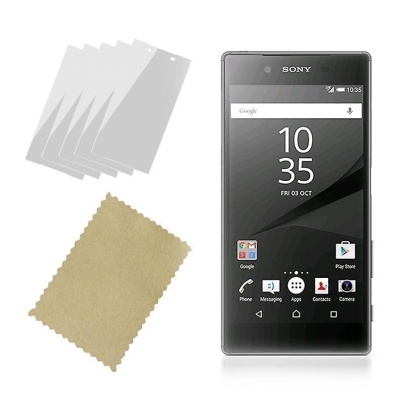 إينفينتكاسي حامي الشاشة الحرس بتنظيف القماش (5-حزمة) سوني إريكسون Z5 عام 2015
