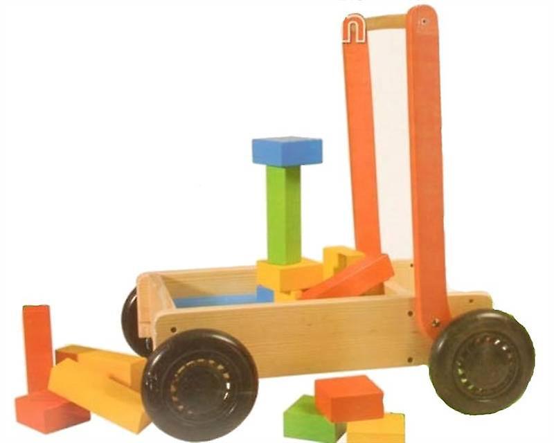 27Pcs Wooden Push Cart