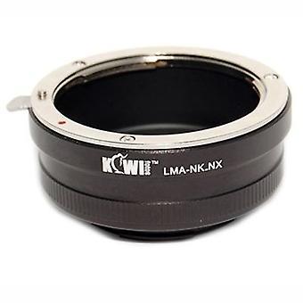 Kiwifotos lente adattatore di montaggio: Permette Nikon F-Mount lenti essere utilizzato su Samsung NX5, NX10, NX11, NX100 NX200