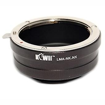Připojovací adaptér kiwifotos objektivu: umožňuje použití čoček Nikon F-Mount u společnosti Samsung NX5, NX10, NX11, NX100, NX200