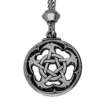 Handmade Assassin's Creed Pentacle Pewter Pendant