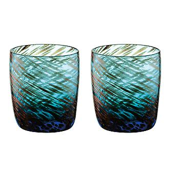 Artland Misty Blue Double Old Fashioned Tumblers,  Set of 2