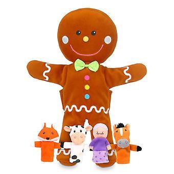 Fiesta Crafts Gingerbread main et jeu de marionnette de doigt
