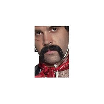 Authentic western Mexican moustache black self-adhesive collection