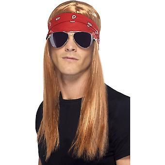 lat 90-tych rocker kostium zestaw, Axl Rose 90ies zestaw 3-częściowy rock star