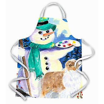 Carolines Treasures  SS8996APRON Snowman with Australian Shepherd Apron