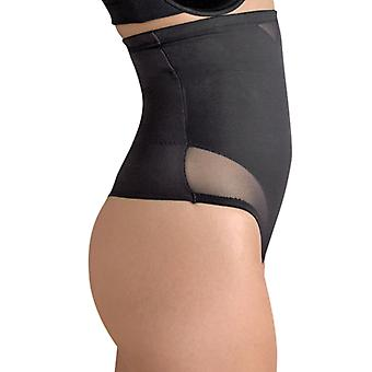 Miraclesuit Shapewear 2778 Women's Sexy Sheer Black Firm/Medium Control High Waist Thong